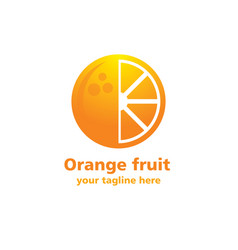 Orange fruit logo vector