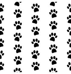 Paw symbol seamless pattern vector image
