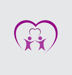 people care business logo vector image