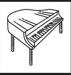 piano icon doodle hand drawn or outline icon style vector image