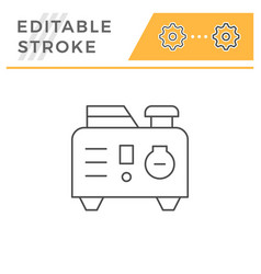 portable electric generator line icon vector image
