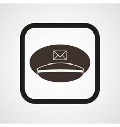 Postman cap icon simple vector