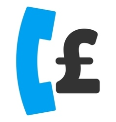 Pound Pay Phone Flat Icon Symbol vector