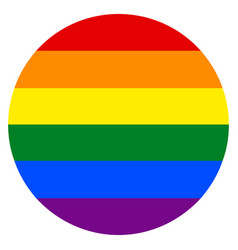 Rainbow flag in circle shape vector