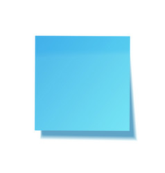 realistic sticky note with shadow blue paper vector image