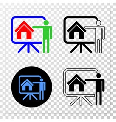 realtor public report eps icon with contour vector image