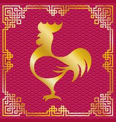 Roosterchinesenewyear vector