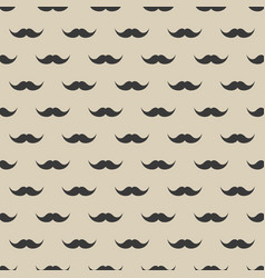 seamless pattern with mustache vintage retro vector image