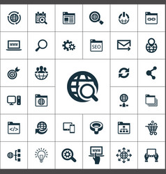 seo icons universal set for web and ui vector image