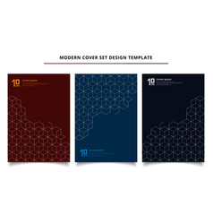 Set of modern cover design template silver vector