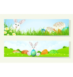 Set of Two Easter Banners vector