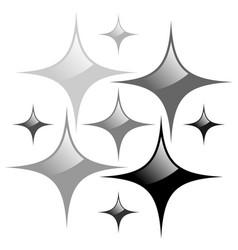 shining stars on white background vector image