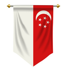 Singapore pennant vector
