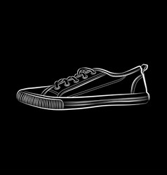 sneakers icon flat of sneakers vector image