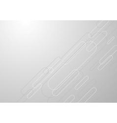 Tech grey geometric background vector