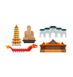 traditional chinese architecture culture and vector image