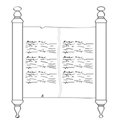 Traditional torah outline vector