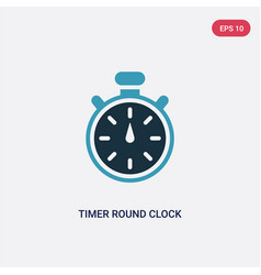 Two color timer round clock icon from tools and vector