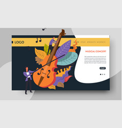 violin and violinist web page templates music vector image