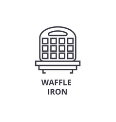 waffle iron line icon outline sign linear symbol vector image