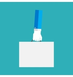White paper blank in the hand vector image