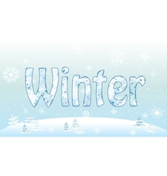 Winter forest background snowflake pattern for vector