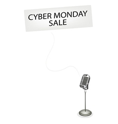 A Retro Microphone Broadcasting Cyber Monday Sale vector image vector image