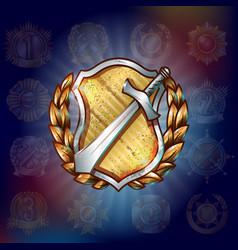 cartoon military award template vector image