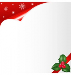 christmas notepaper vector image vector image