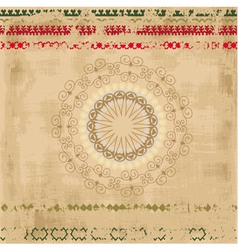 Ethnic Pattern Background vector image vector image