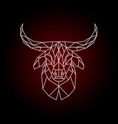 geometrical head of a bull vector image