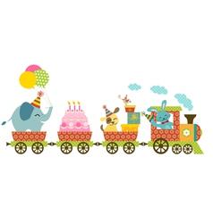 Happy train vector image vector image