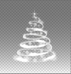 illumination lights tree isolated on transparent vector image vector image