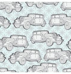 seamless vintage car vector image vector image