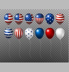 usa balloon design of american flag on vector image vector image