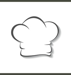 Chefs hat icon isolated vector image