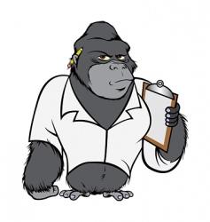 gorilla lab suit vector image vector image