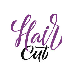 hair studio logo beauty lettering custom vector image vector image