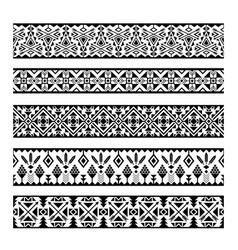 mexican geometric seamless pattern borders vector image vector image