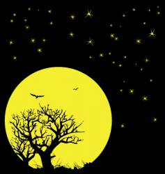 night sky and moon vector image vector image