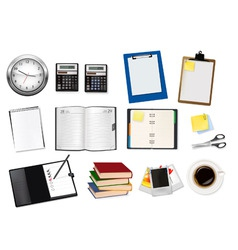 office supples big set and dairy vector image