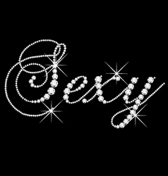 Sexy word with diamonds bling vector image vector image