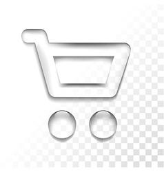 transparent shop vector image