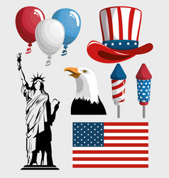 America related objects vector