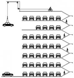 car park vector image vector image