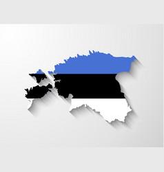 Estonia map with shadow effect vector image vector image