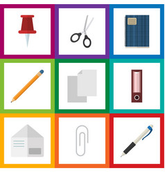 flat icon tool set of clippers drawing tool vector image vector image