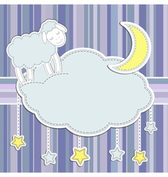 Frame with cute sheep vector image vector image