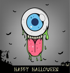 Halloween eye ball monster vector image vector image