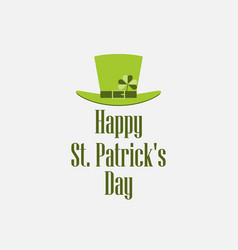 happy st patricks day leprechaun hat vector image
